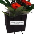 190mm Black Florist Paper Carrier Bags