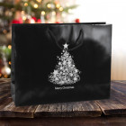 410mm Black Christmas Tree Paper Carrier Bags