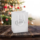 160mm White Merry Christmas Gift Bags