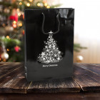 250mm Black Christmas Tree Paper Carrier Bags