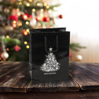 160mm Black Christmas Tree Paper Carrier Bags