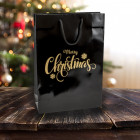 Merry Christmas Carrier Bags 250mm Prt. Gold