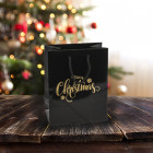 Merry Christmas Carrier Bags 160mm Gold Prt.