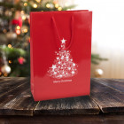 250mm Red Christmas Tree Paper Carrier Bags