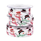 Snowman Ribbon - White