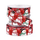 Snowman Ribbon - Red