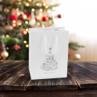 160mm White Christmas Tree Paper Carrier Bags
