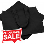 Large Black Cotton Bags *Clearance*
