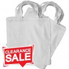 Medium White Cotton Bags *Clearance*