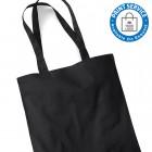 Black Cotton Bags Long Handles