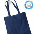 Blue Cotton Bags Long Handles