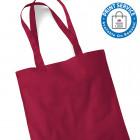 Cranberry Cotton Bags Long Handles