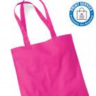 Fuchsia Cotton Bags Long Handles