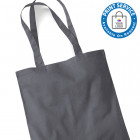 Grey Cotton Bags Long Handles