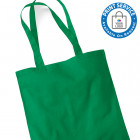Kelly Green Cotton Bags Long Handles