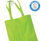 Lime Cotton Bags Long Handles