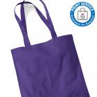Purple Cotton Bags Long Handles