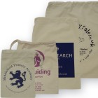 140mm Printed Cotton Drawstring Bags