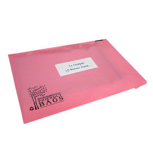 230mm Pink Eco Mailing Bags