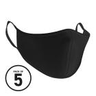 Black Washable Face Masks (Pack 5)