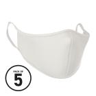 White Washable Face Masks (Pack 5)