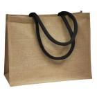 Jute Bags With Black Handles