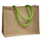 Jute Bags With Green Handles