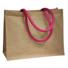 Jute Bags With Pink Handles