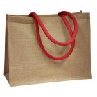 Jute Bags With Red Handles