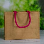 Coloured Handle Jute Bags