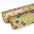 Floral Pattern Kraft Rolls