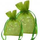 Lime Organza Bags
