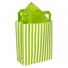 180mm Lime Striped Paper Carrier Bags