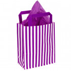 180mm Purple Striped Paper Carrier Bags