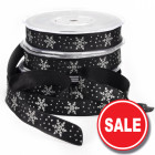 Crystal Snowflake Ribbon - Black