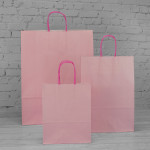 Pastel Pink Paper Carrier Bags