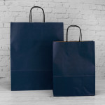 Dark Blue Paper Carrier Bags