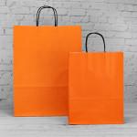 Orange Paper Carrier Bags