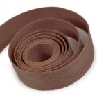Cotton Twill Ribbon Brown