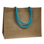 Coloured Handle Jute Bags