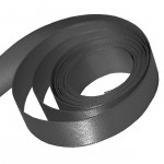 Pewter Grey Satin Ribbon