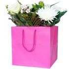 190mm Fuchsia Florist Paper Carrier Bags
