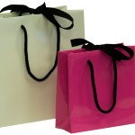 Ribbon Tie Laminated Carrier Bags