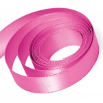 Shocking Pink Satin Ribbon