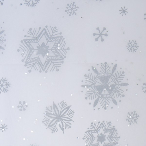 Paper Tissue Snowflake Christmas Decorations By Pearl And: Silver Snowflake Tissue Paper