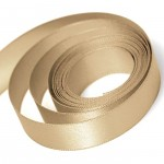 Tan Double Faced Satin Ribbon