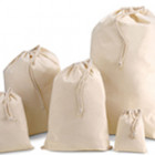 100mm Natural Cotton Drawstring Bags