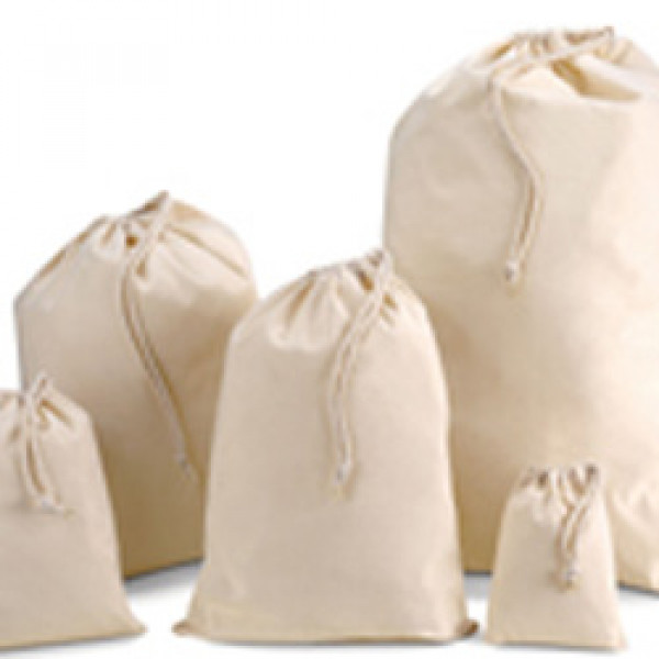 2119573afc92 500mm Natural Cotton Drawstring Bags
