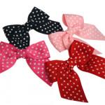Spotty Grosgrain Ribbon Bows