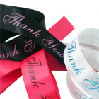 Thank You Printed Ribbon